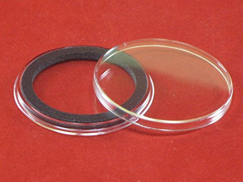 10 Black Ring Type 38mm Air Tite Coin Holders for Silver Dollars