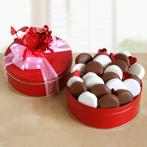 Cupid's Cream Filled Cookies Valentines Gift Tin for Him or Her