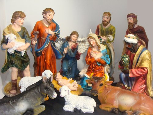 Large 12-Piece Outdoor Christmas Nativity Set