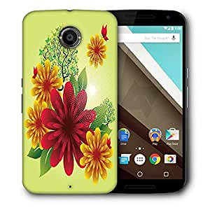 Snoogg Spring Flowers Designer Protective Back Case Cover For Motorola Nexus 6