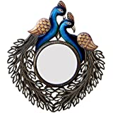 Divraya Wood Peacock Wall Mirror (50.8 Cm X 4 Cm X 58.42 Cm, DA101)