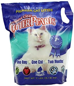Ultra Pet Cat Litter Pearls (Original) Crystal Clear, 7-Pound Package