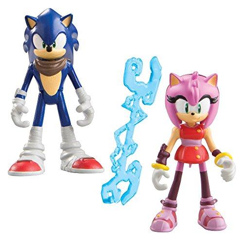 Sonic Boom Sonic the Hedgehog 3 pollici e Amy Rose figura articolata con accessori (confezione da 2)