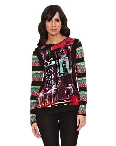 Janis Camiseta Motivos Chinos Multicolor