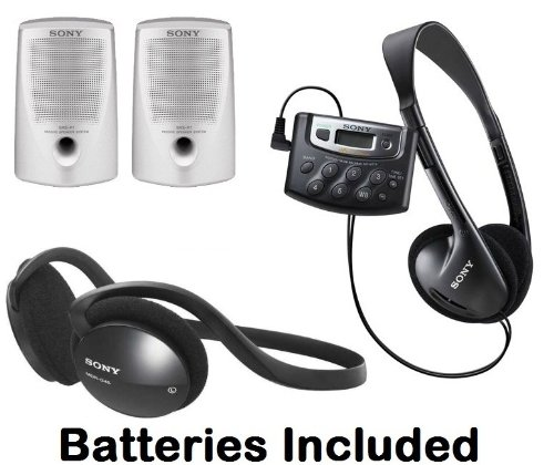Sony Walkman Digital Tuning Palm Size AM/FM Stereo Radio with Weather Band, 20 Station Preset Memory, DX Switch for Exceptional Reception, Belt Clip, Over the Head Stereo Headphones, Sport Style Behind the Neck Headphones & Passive Lightweight Portable Sp