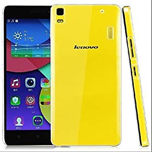 Dashmesh Shopping Ultra Thin 0.3mm Clear Transparent Flexible Soft TPU Slim Back cover Compatible for Lenovo A7000