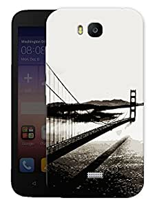 "Humor Gang Bridge Monochrome Printed Designer Mobile Back Cover For ""Huawei Honor Bee"" (3D, Matte, Premium Quality Snap On Case)"