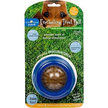 Star Mark Everlasting Treat Ball for Dogs, Medium, Color:Blue