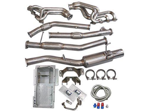 LS1 LSx T56 Mount Kit + Headers Catback Exhaust + Oil Pan For 89-94 240SX S13