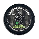 Badass Beard Care Beard Wax For Men - The Brewmaster Scent, 2 oz - Natural Ingredients, Keeps Beard and Mustache Full, Soft and Healthy, Reduce Itchy and Flaky Skin, Promote Healthy Growth