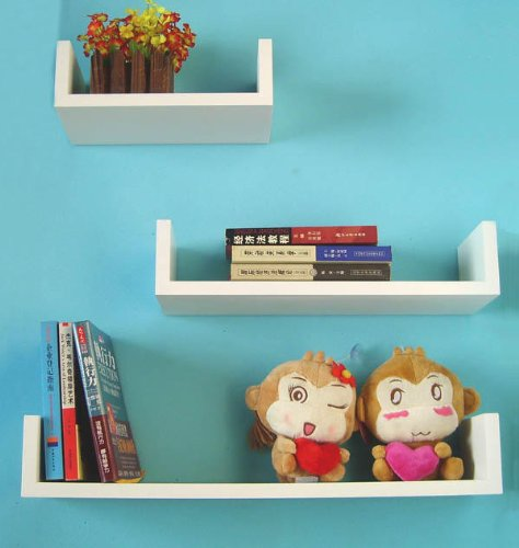 Matte White U Wall Shelf WSUW