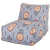 Majestic Home Goods Michelle Bean Bag Chair Lounger, Citrus