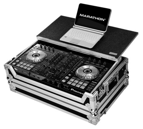 Marathon Flight Road Case MA-DDJSXLT Case to Hold 1 X Pioneer DDJ SX Serato Dj Music Controller with Laptop Shelf