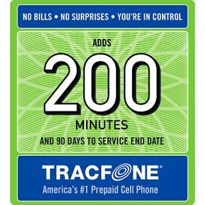 Tracfone 200 Minutes and 90 Days of Service