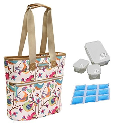 lily-bloom-oversize-insulated-lunch-cooler-tote-with-pack-n-go-containers-tweety-twigs-bone-by-lily-