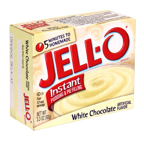 Buy Jell-O Instant Pudding & Pie Filling, White Chocolate, 3.3-Ounce Boxes (Pack of 24) (JELL-O, Health & Personal Care, Products, Food & Snacks, Baking Supplies, Pie & Cobbler Fillings)