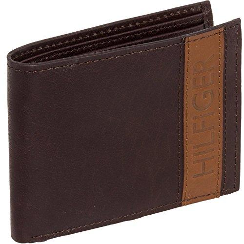 Tommy-Hilfiger-Mens-Leather-Stripe-Bifold-Billfold-Wallet