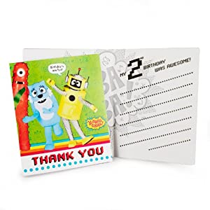 Gabba 2nd Invitations Party Supplies 2