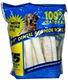 "8-9"" Dental Rawhide Rolls, 15-count"