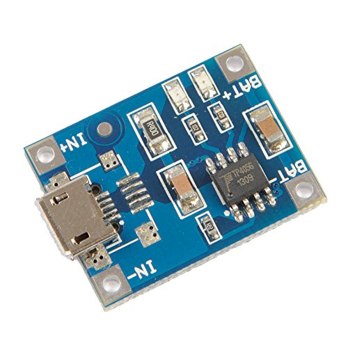 Icstation TP4056 Micro USB 5V 1A Lithium Battery Charging Module Charger Board with Indicator (Lithium Charger Module compare prices)