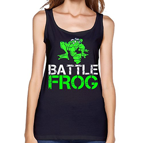 womens-battle-frog-logo-tank-top-black