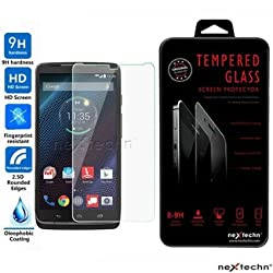 Nextechn XT1254 Premium Real Tempered Glass Screen Protector Film Guard for Motorola Droid Turbo XT1254