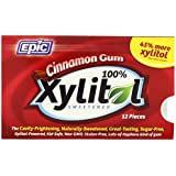 Epic Dental 100% Xylitol Sweetened Gum, 12 Count (Pack of 12)
