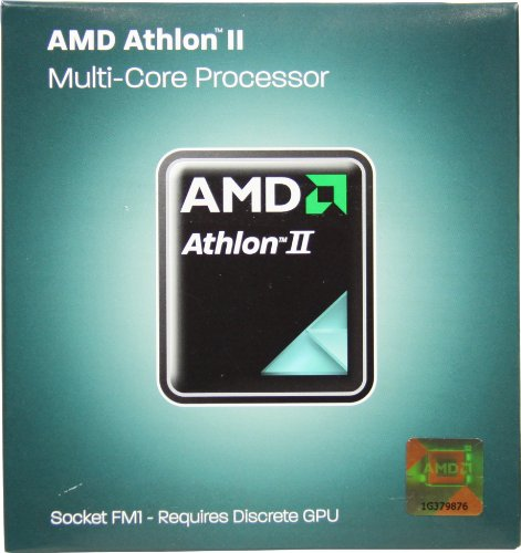 AMD Athlon II X4 631 2.6GHz 4x1 MB L2 Cache Socket FM1 100W Quad-Core Desktop...