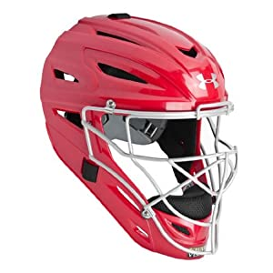 Under Armour PTH Victory Catchers Helmet Scarlet Large (7-7 3/4)