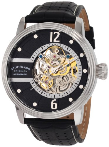 Stuhrling Original Men's 308.331513 Prospero Classic Automatic Skeletonized Black Dial Watch