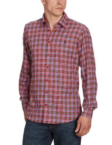 Otto Kern Men's 50026 / 13014 Casual Shirt Red (520Rot) 41/42