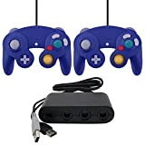 ZedLabz Gamecube controllers & USB GameCube controller adapter value bundle for Nintendo Wii U - Purple