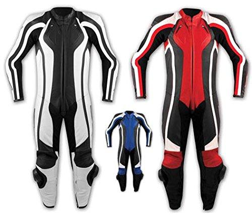Tuta-Pelle-Intera-Moto-Racing-Pista-Sport-Professionale-Protezioni-Omologate