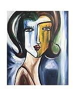 Legendarte Pintura al Óleo sobre Lienzo Volto Di Donna