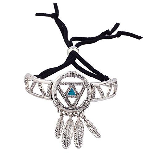 Lux accessori Burnish Acchiappasogni in argento braccialetto NAVAJO