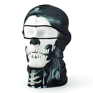 Coxeer Skull Tubular Mask Bandana Motorcycle Scarf Face Neck Warmer helmet(BW-05)