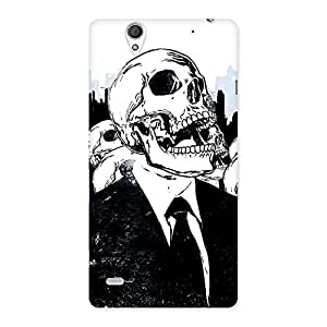 Cute Skull Laugh Back Case Cover for Sony Xperia C4