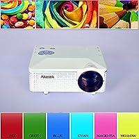 Aketek® Multimedia USB AV HDMI VGA Home Theater LED Digital Video Game Pico Mini Projector(White) by Aketek