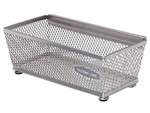 Rubbermaid Interlocking Mesh Drawer Organizer, 3- by 6-Inch, Titanium