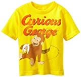 Curious George Little Boys Tee Toddler, Yellow, 2T