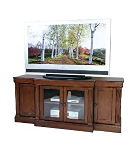 osp 66 fully assembled tv stand in cherry finish entertainment stands. Black Bedroom Furniture Sets. Home Design Ideas