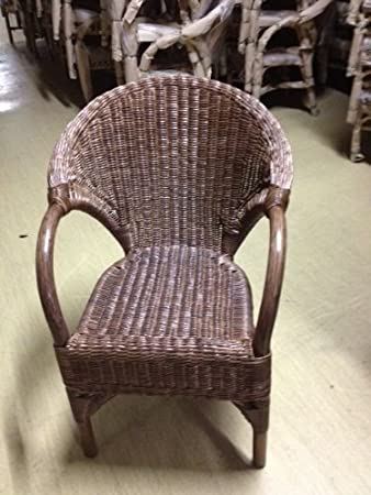 Rattan Sessel NEU in der Farbe braun klassisch stappelbar