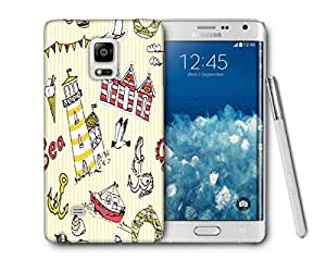 Snoogg Yellow Beach Side Printed Protective Phone Back Case Cover For Samsung Galaxy NOTE EDGE