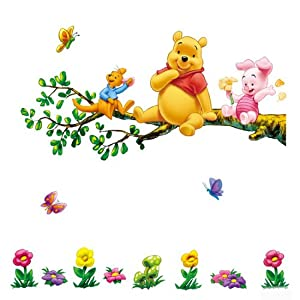 decus 1 bl wandaufkleber wandtattoo wandsticker deko winnie the pooh lichtschalter sticker wall. Black Bedroom Furniture Sets. Home Design Ideas