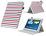 MiTAB Stylish Stripes Rotational Stand Case Cover For The HP Slate 10 HD / HP Omni 10 5600ea / HP SlateBook X2