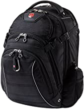 Swiss Gear Rainproof Backpack for 17.3-Inch Notebook Computer, United States Carry-On, Black