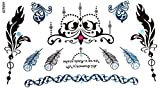 Look Like Real Temporary Tattoos Beautiful Jewelry Tattoos Fashion Feather Tattoos Crwon Tattoos