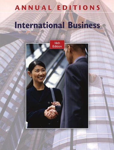 Annual Editions: International Business, 16/e