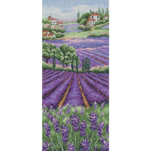 "Anchor Provence paysage lavande compté Cross Stitch Kit-12-1/2 ""X 5-1/2"" comte 16"