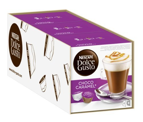 Nescaf¨¦ Dolce Gusto Choco Caramel, Cocoa with Caramel, Pack of 3, 3 x 16 Capsules (8 Servings) by Nescaf¨¦